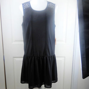 Forever 21 Sleeveless Lace Black Dress Zipper NWT